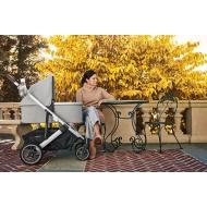 Люлька для коляски UPPAbaby Cruz и Vista STELLA серебристый меланж